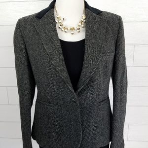 Evan Picone size 12 Blazer Jacket Wool Gray Black